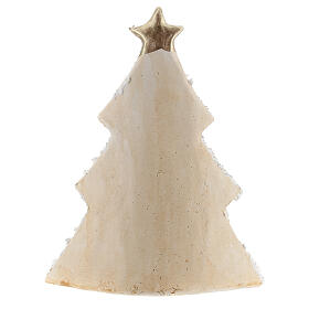 Holy Family Christmas tree decoration in Deruta terracotta with glitters 19 cm s4