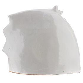 Cabane Nativité style moderne terre cuite blanche Deruta 14x16 cm s4