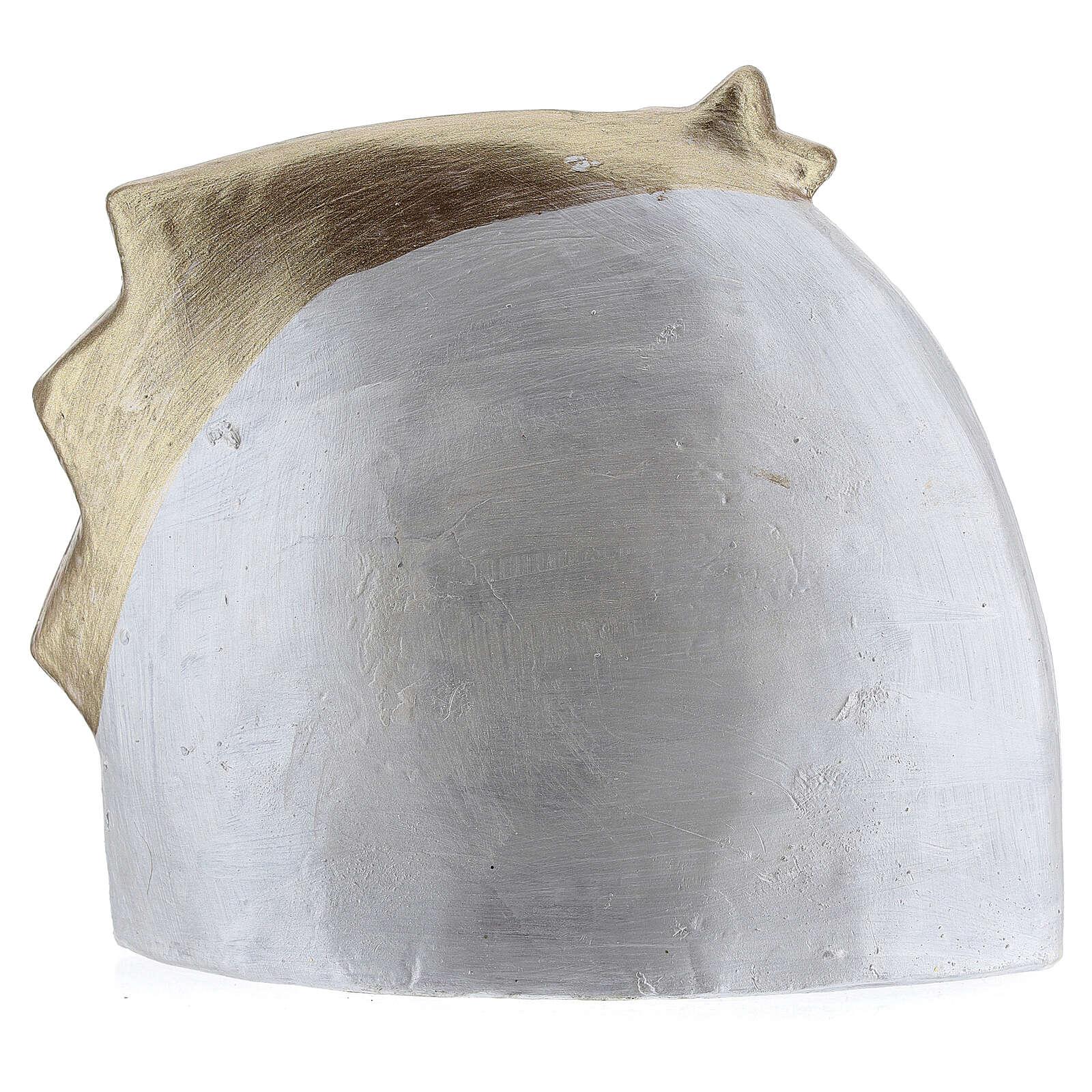 Capanna terracotta bianca stella cometa oro Deruta 14x16 cm 4