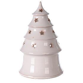 Árbol Navidad tealight terracota bicolor Deruta 20 cm s4