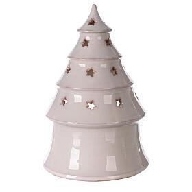 Sapin conique Sainte Famille terre cuite Deruta bougie 25 cm s4