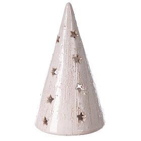 Albero lume Natività terracotta bianca Deruta 20 cm s4