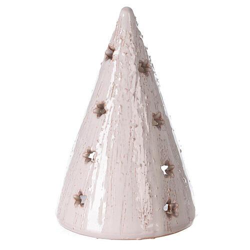 Presepe lumino cono bianco statue terracotta Deruta 15 cm 4