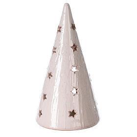 Natività lume cono bianco terracotta bicolore Deruta 20 cm s4