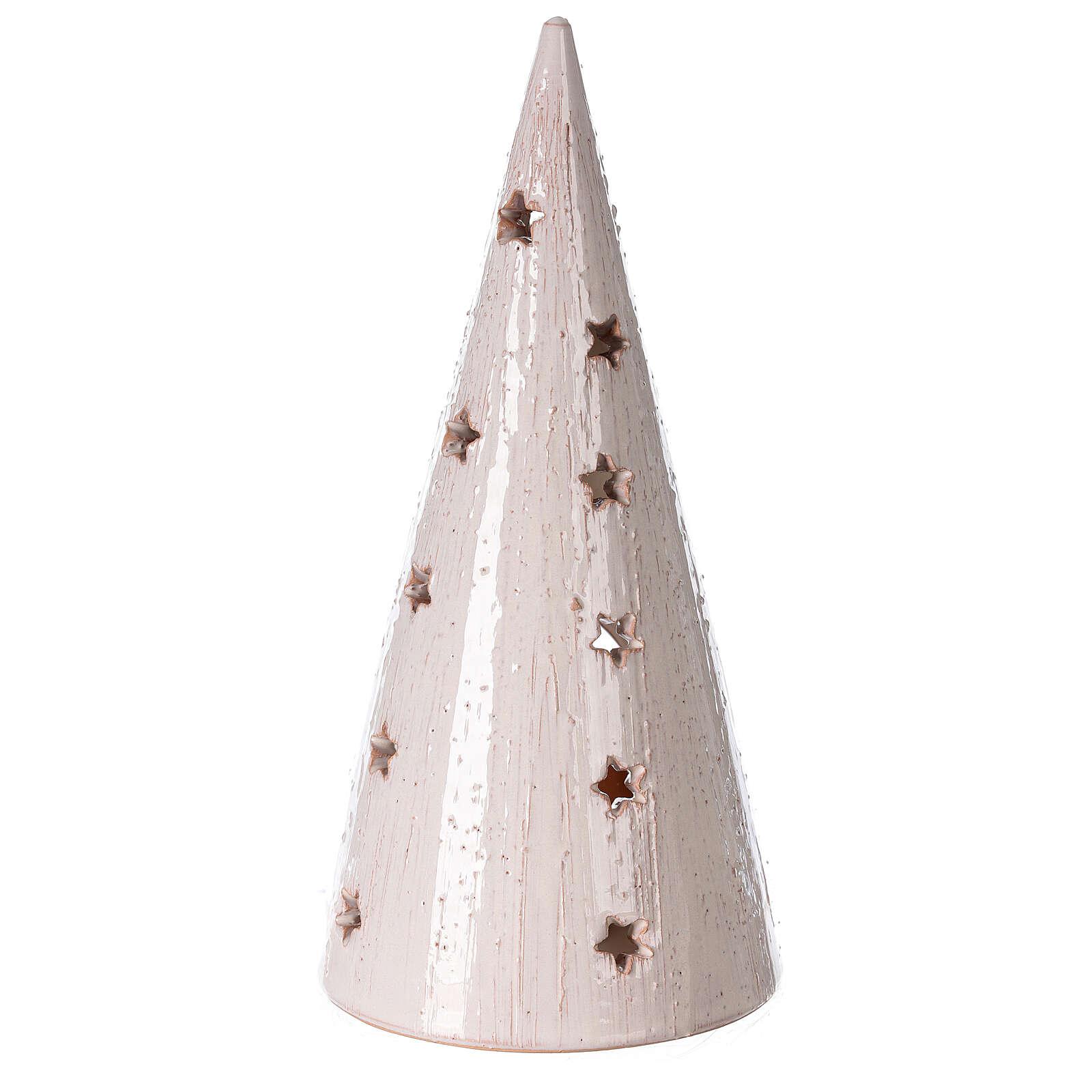Décoration Noël crèche photophore terre cuite Deruta 25 cm bicolore 4