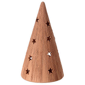Coarse cone with Holy Family candle Deruta terracotta 20 cm s4