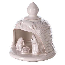 Nativity bell star white Deruta terracotta 12 cm s2