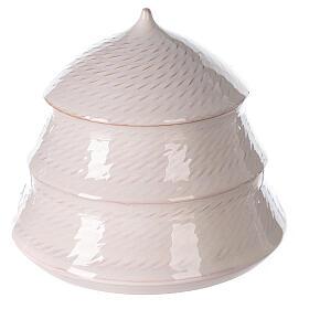 Sapin blanc ouvert Nativité terre cuite blanche Deruta 12 cm s4