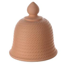 Holy Family inside bell in natural terracotta white nativity set Deruta 12 cm s4