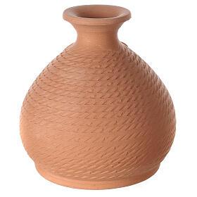 Crèche vase terre cuite Nativité blanche Deruta 12 cm s4