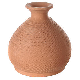 Nativity vase with white terracotta Holy Family Deruta 12 cm s4