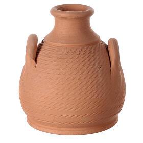 Jar side handles white Nativity Deruta terracotta 12 cm s4