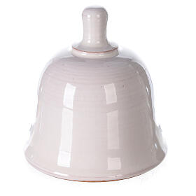 Belén campanilla mini blanco terracota Deruta 10 cm s4