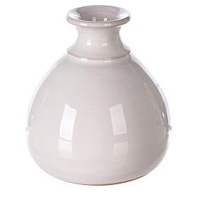 Crèche vase terre cuite miniature blanche Deruta 10 cm s4