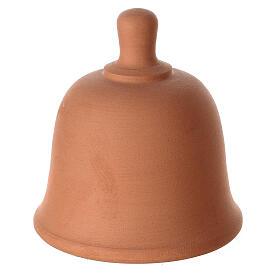 Terracotta bell with white Nativity set Deruta 10 cm s4