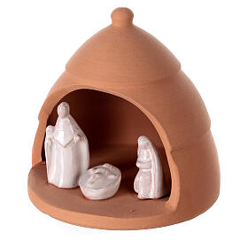 Nativity scene mini pine contrast Deruta Terracotta 10 cm s2