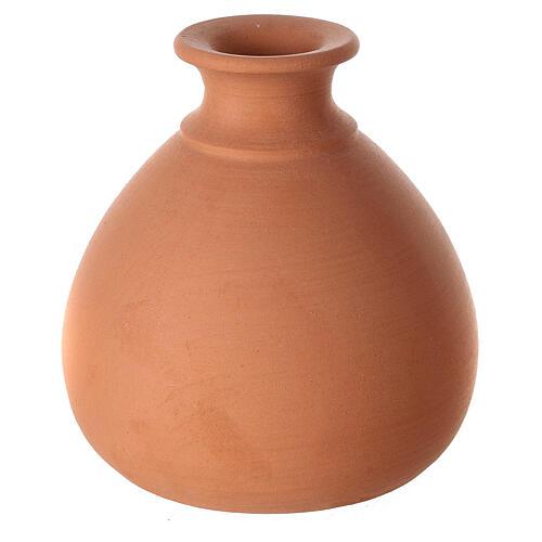 Belén jarrón torneado mini terracota bicolor Deruta 10 cm 4