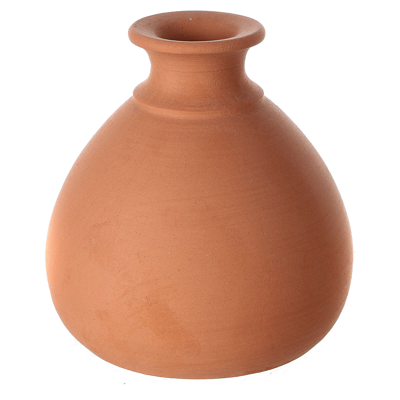 Presepe vaso tornito mini terracotta bicolore Deruta 10 cm 4