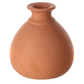 Presepe vaso tornito mini terracotta bicolore Deruta 10 cm s4