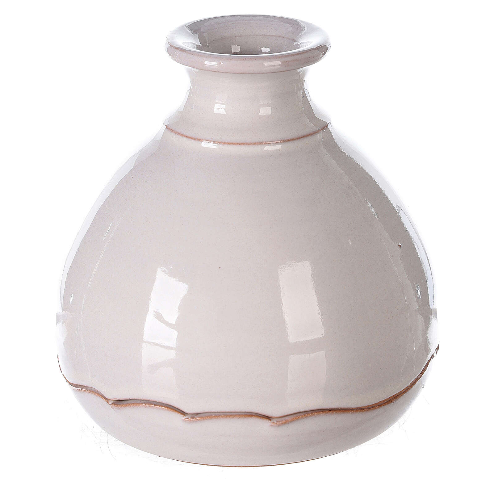 Openable vase in white Deruta terracotta 10 cm 4