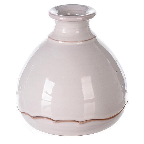 Vaso apribile presepe terracotta bianco Deruta 10 cm 3