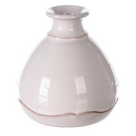 Nativity in round open two-tone Deruta vase 10 cm s4