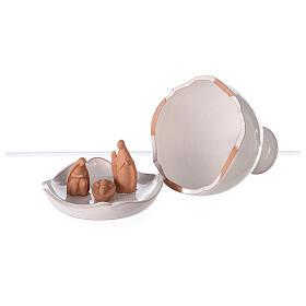 Natività vaso stondato aperto bicolore Deruta 10 cm s3