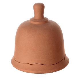 Open bell in natural white Deruta terracotta statues 10 cm s3