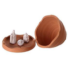 Sapin ouvrant terre cuite naturelle crèche Deruta 10 cm s4
