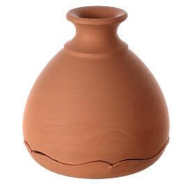 Cut vase with Nativity in two-tone Deruta terracotta 10 cm s3
