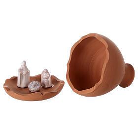 Vase découpé nativité crèche terre cuite bicolore Deruta 10 cm s4