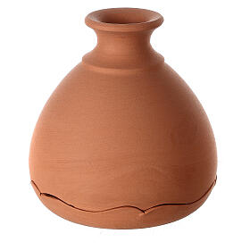 Vase with Holy Family two-toned Deruta terracotta 10 cm s3