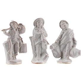Nativity scene in white enamelled Deruta complete 20 pieces 10 cm s5