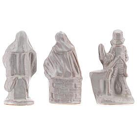 Nativity scene in white enamelled Deruta complete 20 pieces 10 cm s9