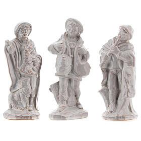 Nativity scene set in white Deruta terracotta 15 pcs 15 cm s4