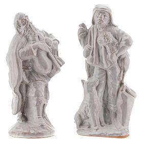 Nativity scene set in white Deruta terracotta 15 pcs 15 cm s5