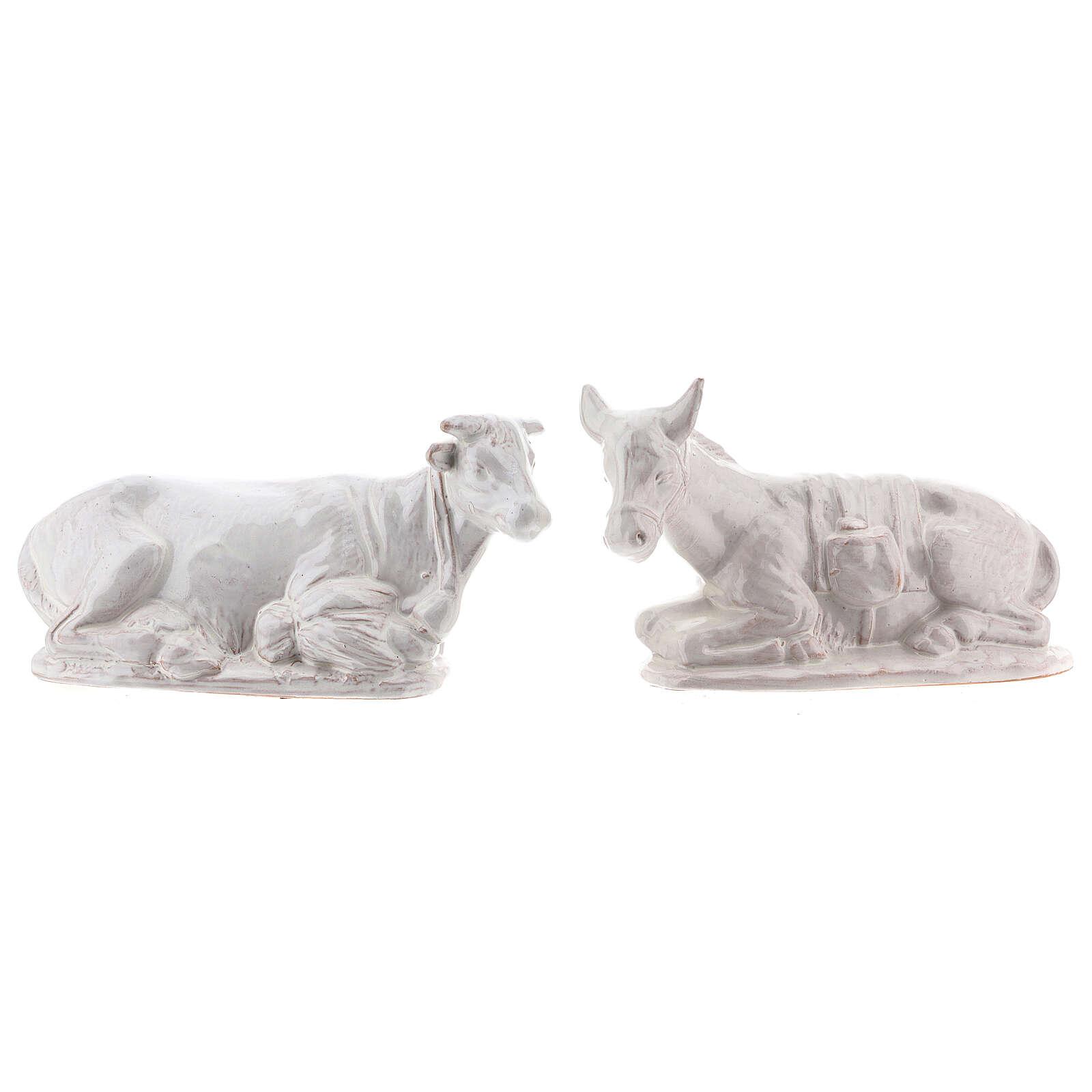 Belén 15 piezas terracota blanca Deruta 20 cm 4