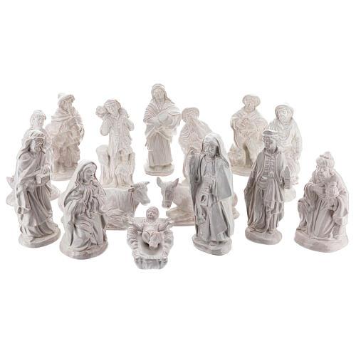 Belén 15 piezas terracota blanca Deruta 20 cm 1