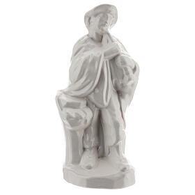 Set three shepherds Nativity scene white terracotta Deruta 30 cm s4