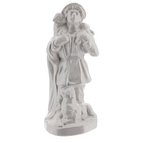 Nativity shepherd set in white Deruta terracotta 30 cm s2