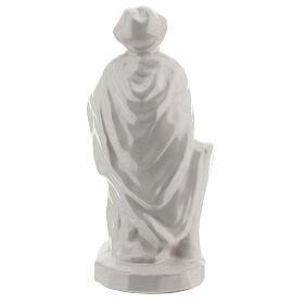 Nativity shepherd set in white Deruta terracotta 30 cm s5