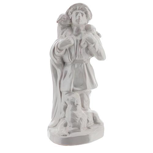 Nativity shepherd set in white Deruta terracotta 30 cm 2