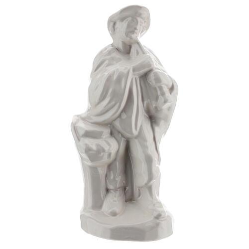Nativity shepherd set in white Deruta terracotta 30 cm 4