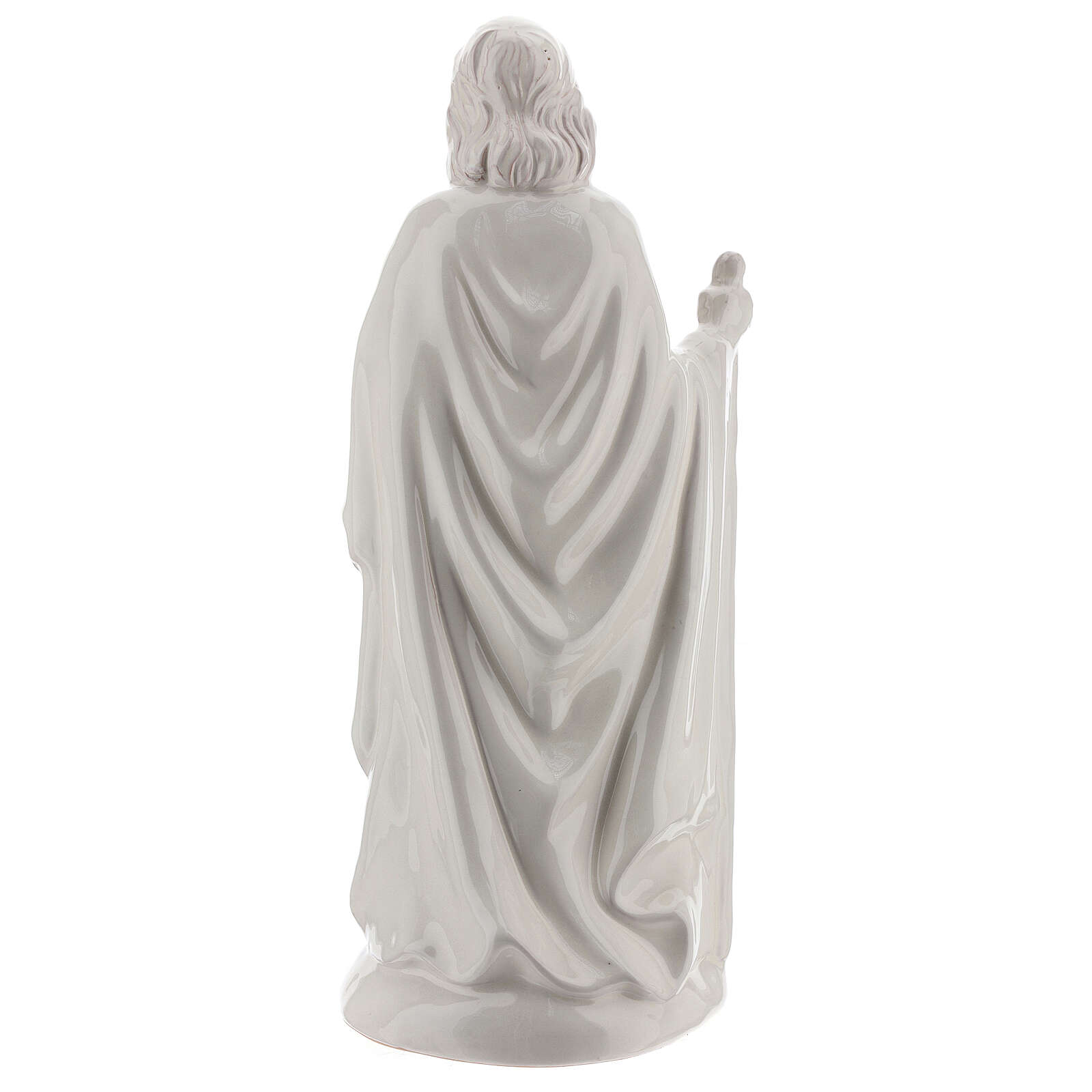 Nativity scene 40 cm white terracotta Deruta 5 pcs 4