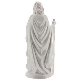 Nativity scene 40 cm white terracotta Deruta 5 pcs s9
