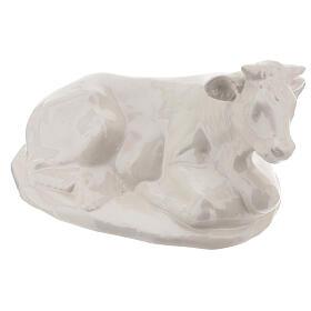 Presepe Natività 40 cm terracotta bianca Deruta 5 pz s7