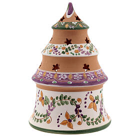 Sapin miniature Nativité lilas terre cuite naturelle Deruta 15 cm s4