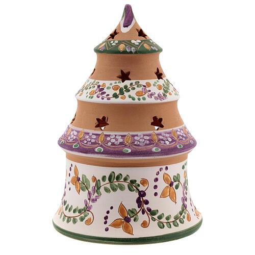 Sapin miniature Nativité lilas terre cuite naturelle Deruta 15 cm 4