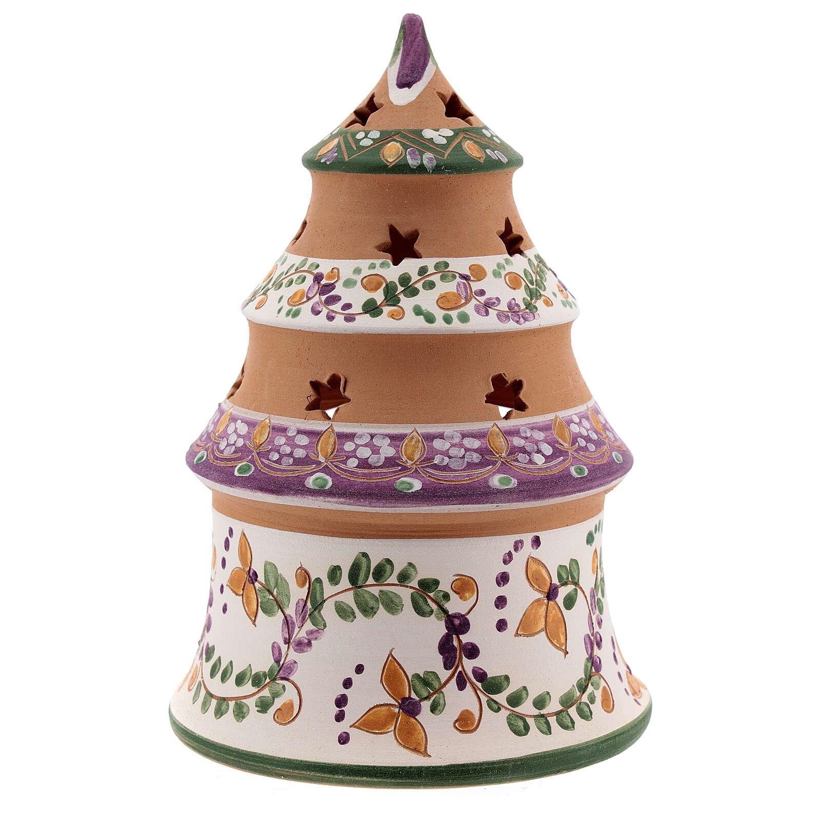 Albero mini Natività lilla terracotta naturale Deruta 15 cm 4