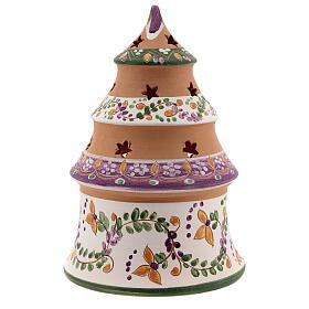 Christmas tree mini Nativity lilac natural terracotta Deruta 15 cm s4